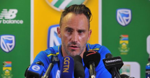 Du Plessis steps aside as South SAfrica skipper