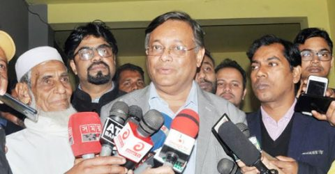 BNP shows disrespect to court by demanding Khaleda's release: Hasan