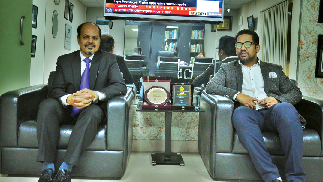 Blue Economy Cell chief  attends a courtesy call at The Bangladesh Today