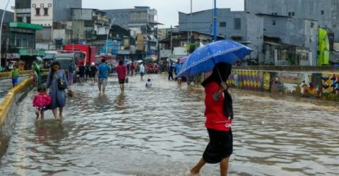 Torrential rains flood Indonesia capital