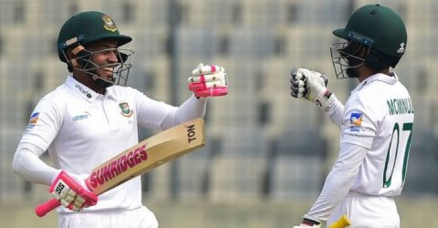 Bangladesh sniffs victory after Mushfiqur's epic double century