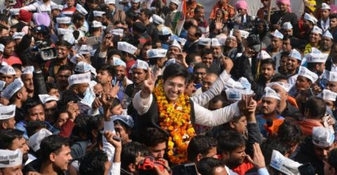 Delhi polls: Celebrations at AAP office as trends show thumping victory for party