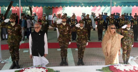 President, PM pay homage to Bangabandhu on his birth centenary