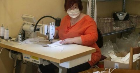 Sewing face masks goes viral in Europe