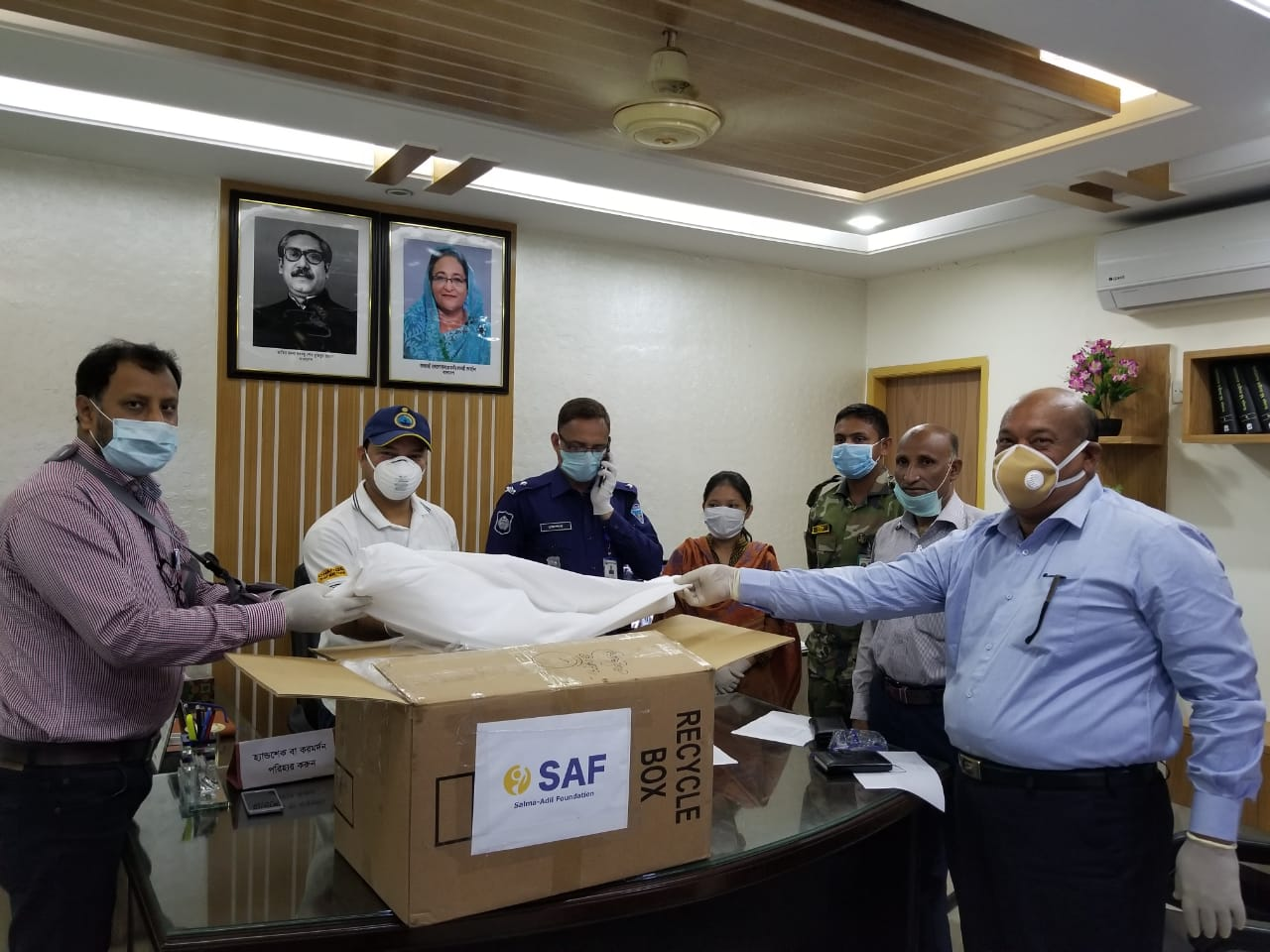 Salma-Adil Foundation Distributes PPE in Chandanaish