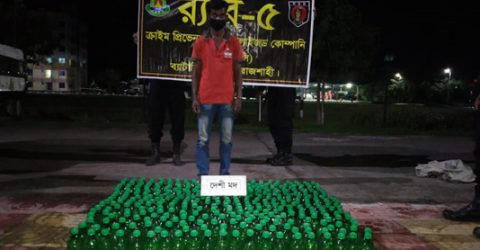 Two held with 637 bottles of wine in Rajshahi