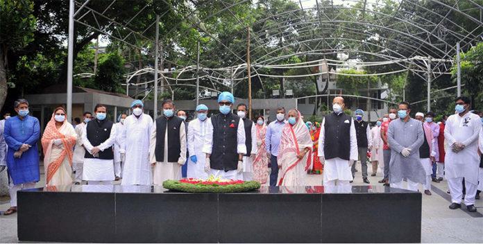 AL pays tributes to Bangabandhu on 71st founding anniversary
