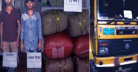 Two held with 54-kg ganja in Rangpur