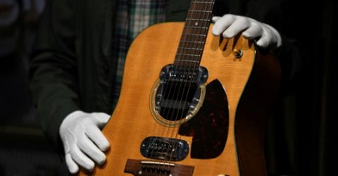 Cobain 'Unplugged' guitar sells for record $6 million at auction