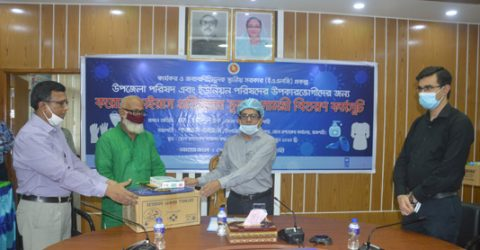 UNDP provides corona preventive gears to LGI service providers in Rajshahi