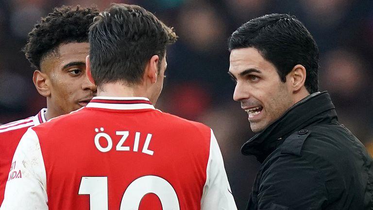 Ozil's wages won't influence selection, says Arteta