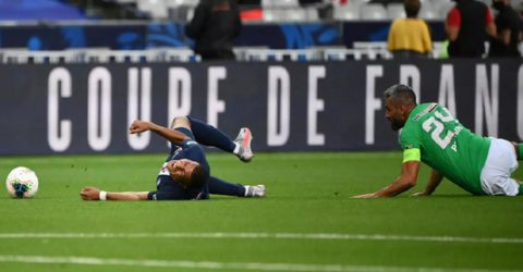 PSG's Mbappe doubtful for Champions League with ankle sprain
