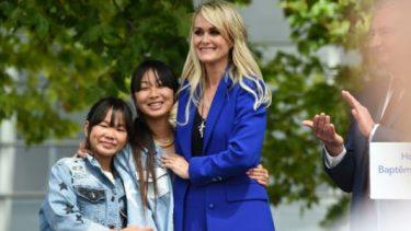 Children of French rocker Hallyday bury hatchet with widow over inheritance