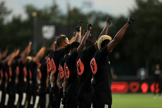 MLS restarts with sombre ceremony, new virus fears