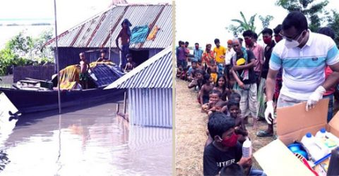 Massive relief activities for flood-hit people in B'putra basin