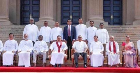 Sri Lanka's cabinet ministers sworn in