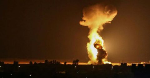 Israel strikes Hamas positions in Gaza over fire balloons