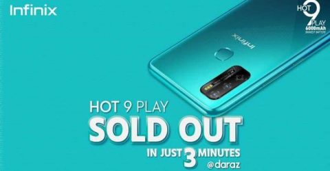 Infinix 'HOT 9 Play' sees record sales in online.