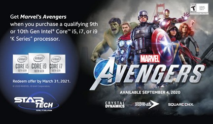 'Avengers' game free with Intel Processor