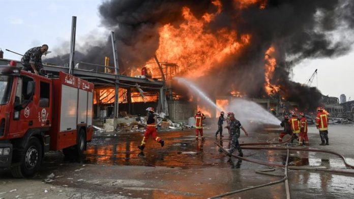 Firefighters put out new blaze in Lebanon capital