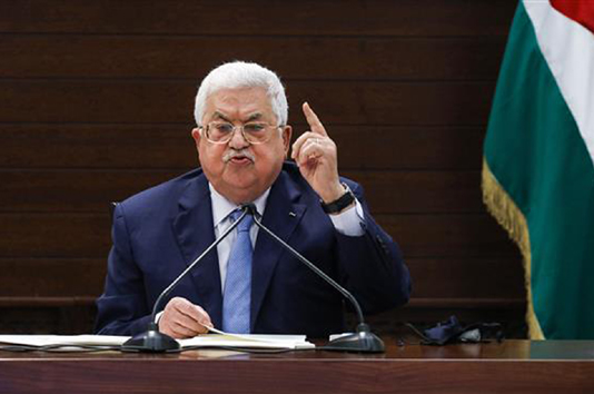 'No peace' in Mideast without end to Israel occupation: Abbas