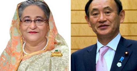 Sheikh Hasina greets new Japanese PM