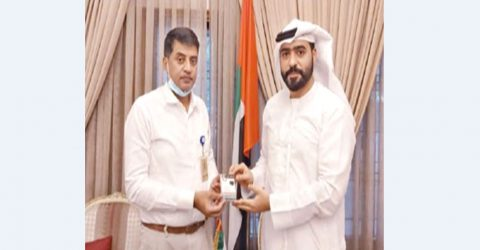 UAE donates face masks to HSIA officials