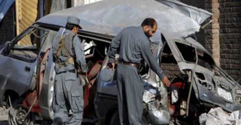 3 Afghan policemen killed as roadside bomb strikes police van