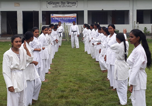 640 schoolgirls receive self-defensive training in Rajshahi region
