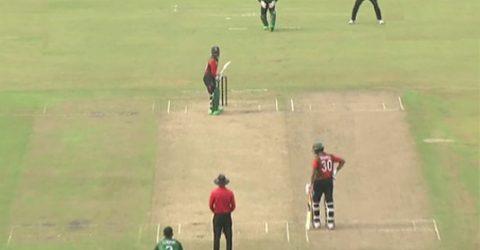 Nazmul XI bats against Mahmudullah XI in BCB President's Cup