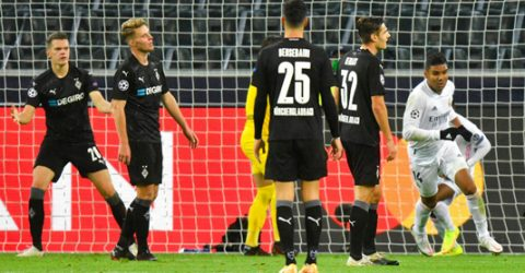 Zidane says Real deserved point after fightback at Gladbach