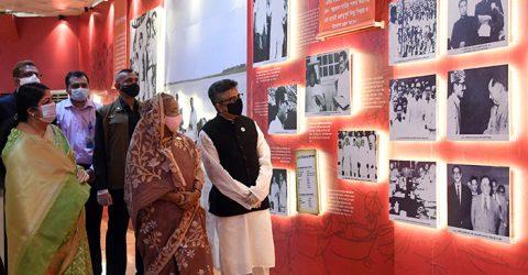 PM opens pavilion on Bangabandhu at JS