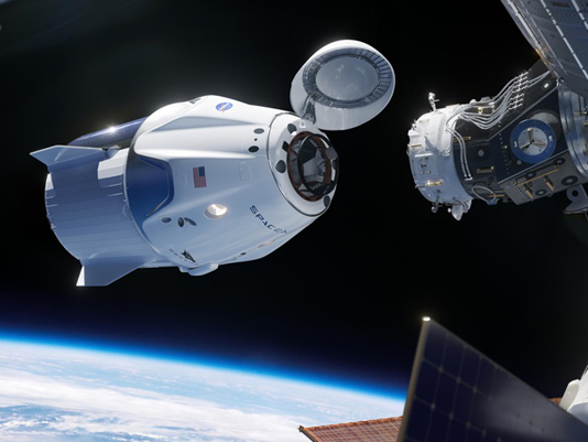 """SpaceX Crew Dragon """"Resilience"""" docks with ISS"""