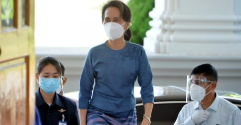 Myanmar's Suu Kyi back in court after health no-show