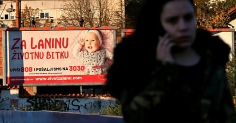 Serbs take to their phones to raise millions for sick children