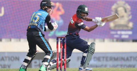 Dhaka senses first victory after restricting Barishal to 108-8