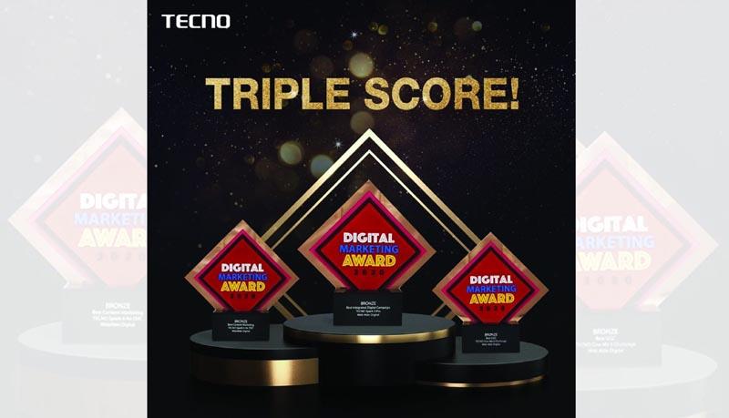 TECNO's triple win in Digital Marketing Awards 2020