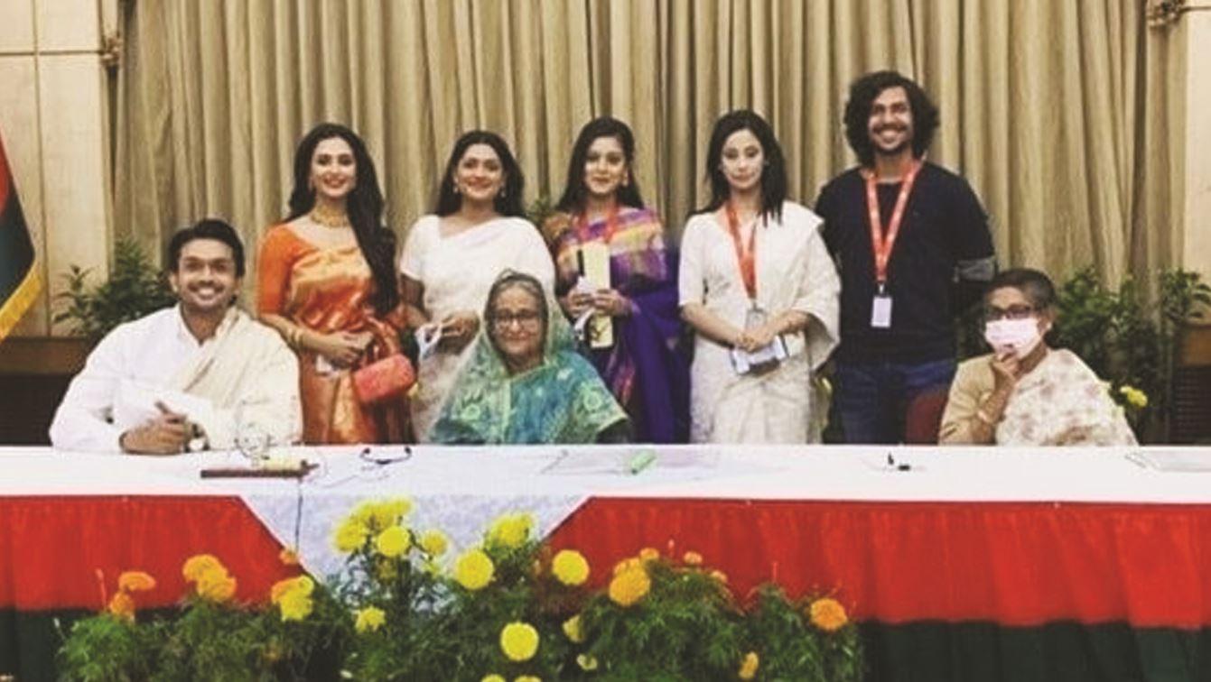 Biopic team of Bangabandhu meets PM