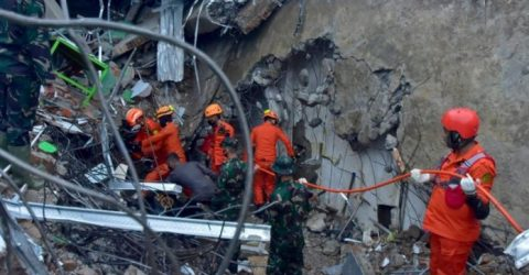 Hunt for buried survivors after Indonesia quake