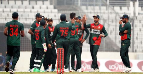 Shakib spins Bangladesh to win on International return