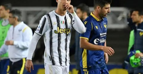 Ronaldo scores as Juventus held in Verona