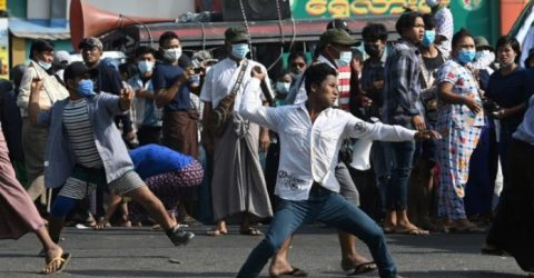 Clashes in Yangon as tensions rise over Myanmar coup