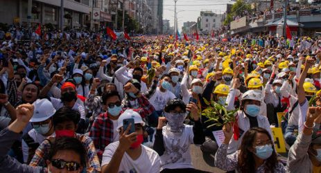 Huge anti-coup rallies in Myanmar after junta threat