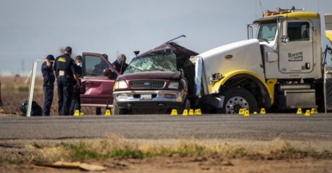 13 dead in California SUV crash may have crossed at Mexico border gap