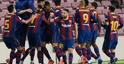 Extra-time winner lightens mood as Barcelona reach Spanish Cup final