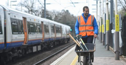 In London, rail-side gardening blossoms during pandemic