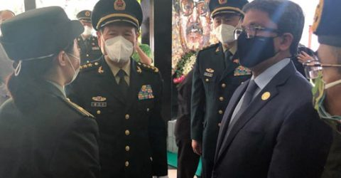 Chinese defense minister pays tribute to Bangabandhu