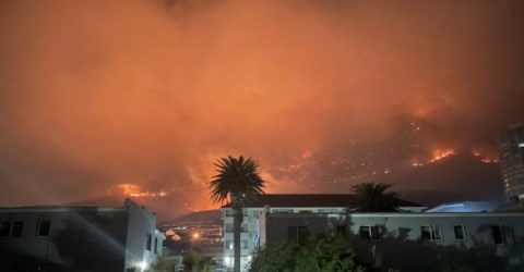 Cape Town blaze almost contained: parks agency