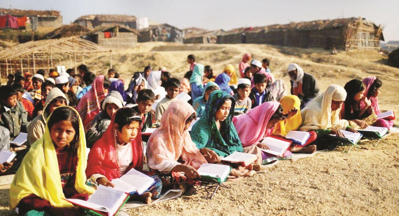 Myanmar refugees in Bhasanchar coming under education program