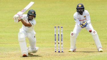 Shanto's maiden ton put Bangladesh on top